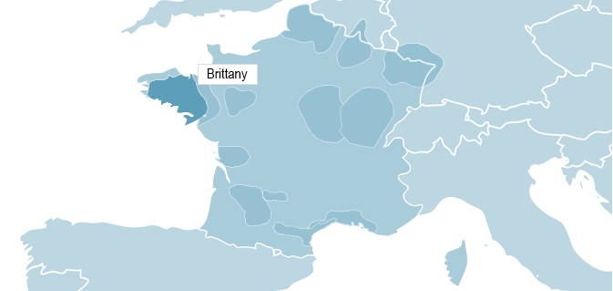 Map of Brittany