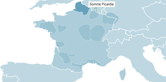 Map of Somme Picardie