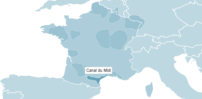 Map of Canal du Midi
