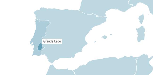 Map of Lago Alqueva
