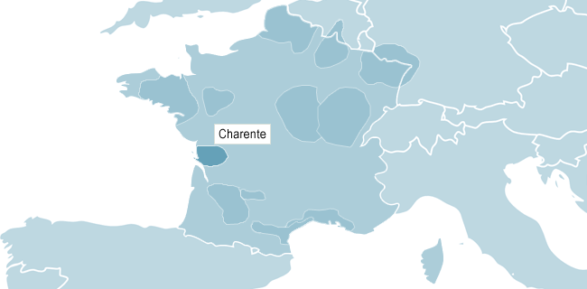 Map of Charente