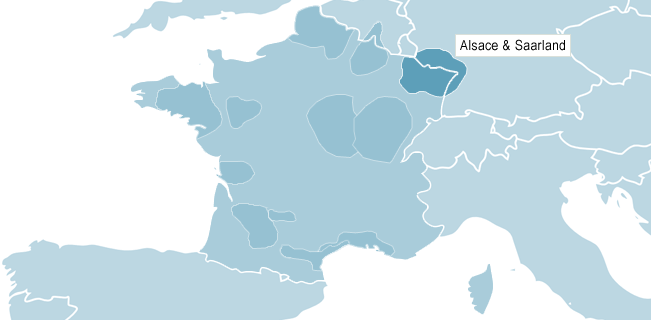 Map of Alsace