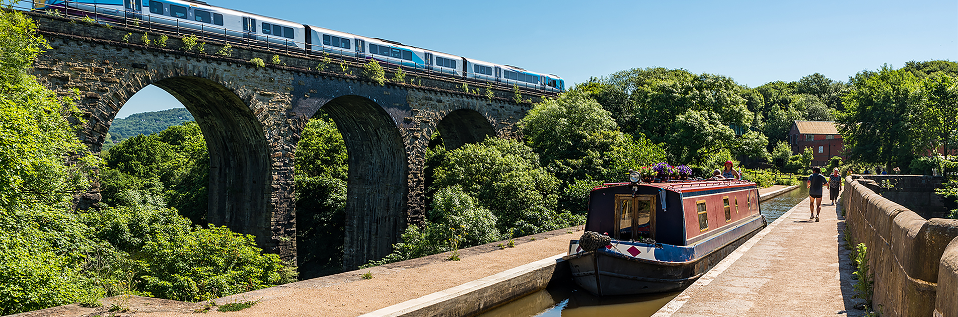 bridge and aqueduct in the Manchester-area