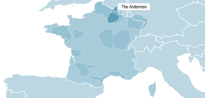 Map of the Ardennes